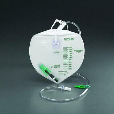 NEW!!! Bard Urine Drainage Bag with Anti-Reflux Chamber, 2,000ml, EA/1, -