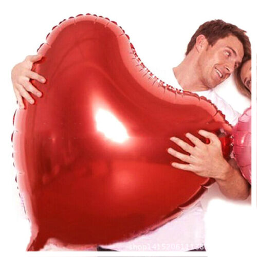Red Color Large Love Heart Foil Helium Balloon for Wedding Party Ball Decoration