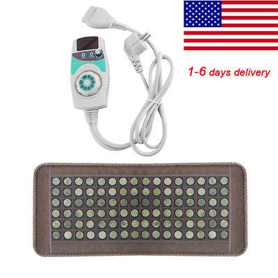 Usa Natural - USA Home Natural Jade Tourmaline Massage Stones Infrared Heating Mat 50*150CM