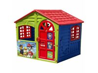 Paw Patrol The House Of Fun Playhouse Toy With Postbox Actual Windows & Clock BRAND NEW