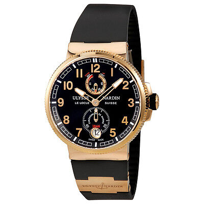 Ulysse Nardin Marine Chronometer Automatic Blue Dial 18K Rose Gold Mens Watch