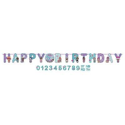 LOL Surprise! Jumbo Happy Birthday Custom Add-an-Age Banner Kit 10 Feet - Birthday Custom Banners