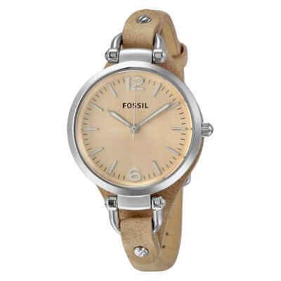 Fossil Georgia Beige Dial Sand Tan Leather Ladies Watch ES2830