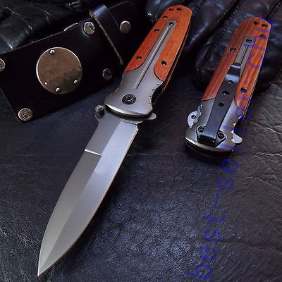 Assisted Opening BRN Knife Tactical Folding Camping Saber Liner lock Gift  ()