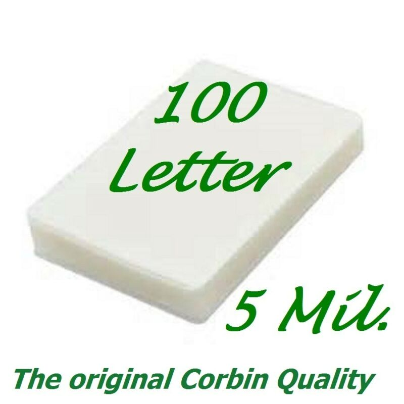 100 Letter Laminating Pouches Laminator Sheets 9 x 11-1/2 5 Mil Scotch Quality