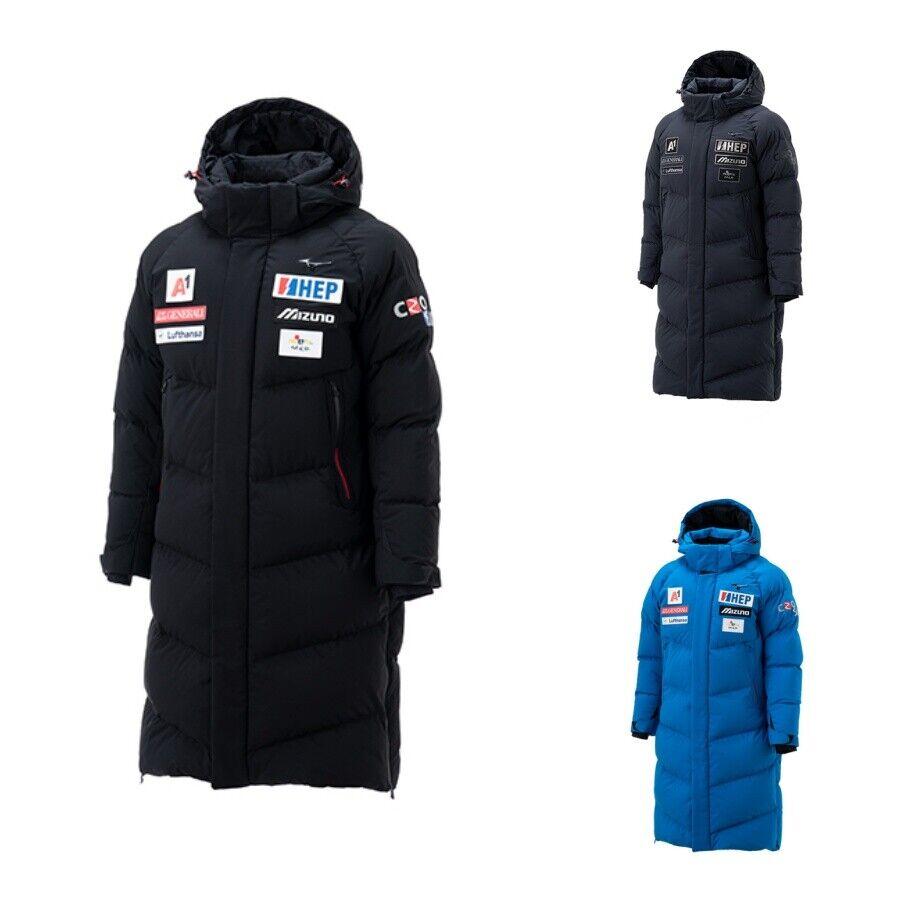 Details about MIZUNO CRO Ski 2019 Long Down Jacket 32YE9673 Winter Blue Black Charcol Sz S XXL