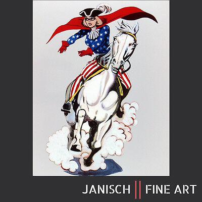 MEL RAMOS: 'Miss Liberty', Wandskulptur, handsigniert, nummeriert, 2008, 90x70cm