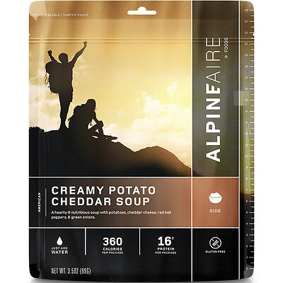 AlpineAire Creamy Potato Cheddar Soup 2-Serving Freeze Dried Camping Food 60701