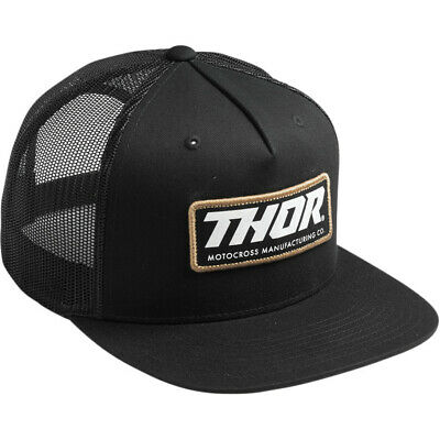 Thor Racing 2019 Adult Standard Trucker Black Hat One Size Fits All (Standard Hat Size)