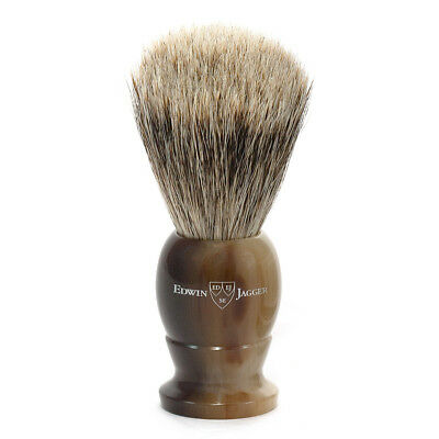 EDWIN JAGGER Best Badger Imitation Light Horn Color Medium Shaving Brush