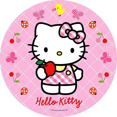 Hello Kitty Dekoration (Tortenaufleger Hello Kitty Dekoration Tortenbild DVD Oblate Buch cd Muffin NEU)