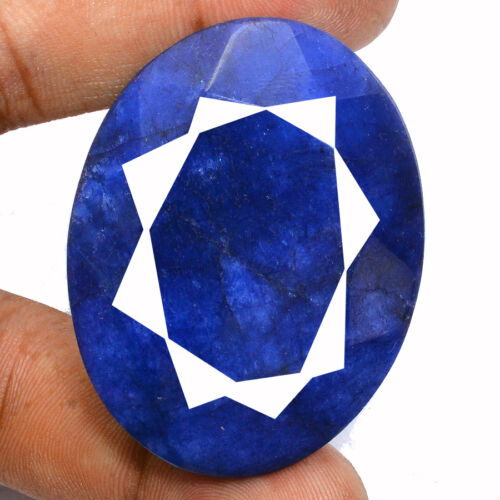 225+Cts+Natural+USA+Blue+Beryl+Oval+Faceted+Cut+Pendant+Size+Loose+Gemstone