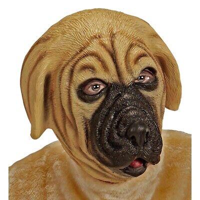 LATEX BULLMASTIFF MASKE # Hundemaske Hunde Kostüm Party Verkleidung Deko (Maske Hund)