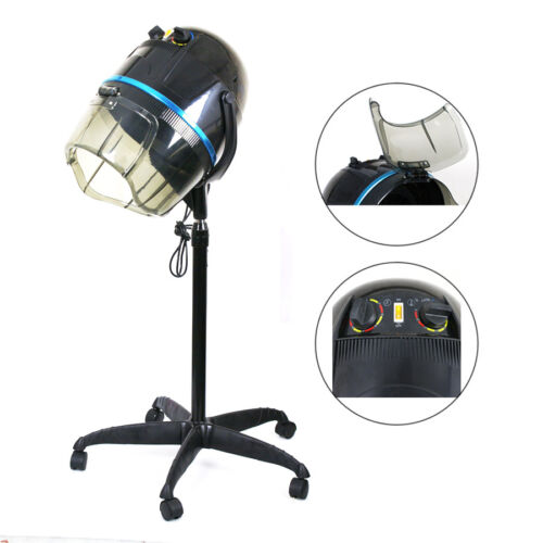 Adjustable 1300W Hooded Floor Salon Hair Bonnet Dryer Stand Up W/Wheels Hair Care & Styling