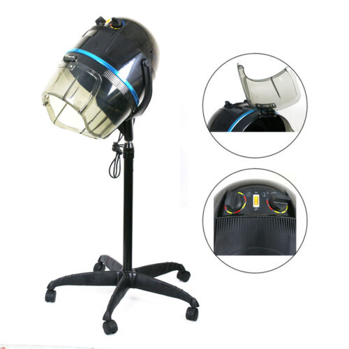 Adjustable 1300W Hooded Floor Salon Hair Bonnet Dryer Stand