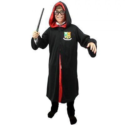 Childs Wizard Costume Fancy Dress Book Week Character Film Movie Halloween(Robe)](Halloween Book Character Costumes)