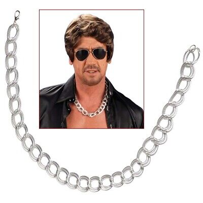 TTE # Gangster Rapper Silber Platin Pimp Kostüm Schmuck 7137 (Halskette Kostüm)