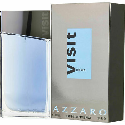 NEW AZZARO VISIT EAU DE TOILETTE FOR MEN LIMITED EDITION ITEM BEST GIFT - 100
