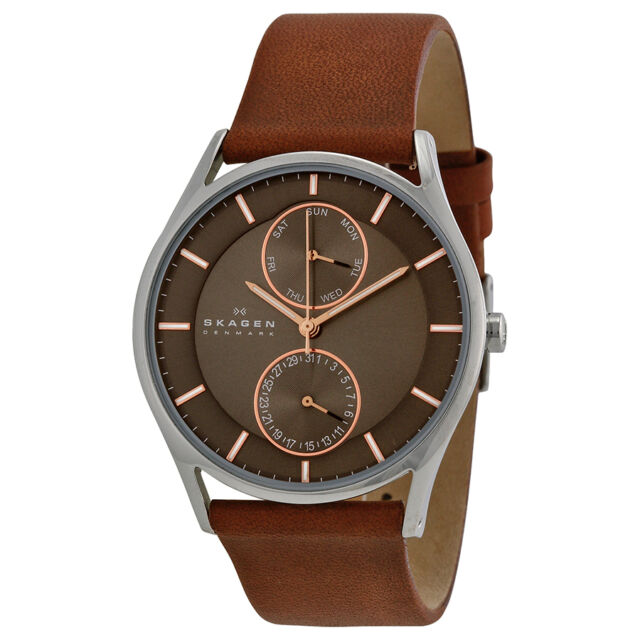 Skagen Holst Brown Leather Mens Watch SKW6086-AU