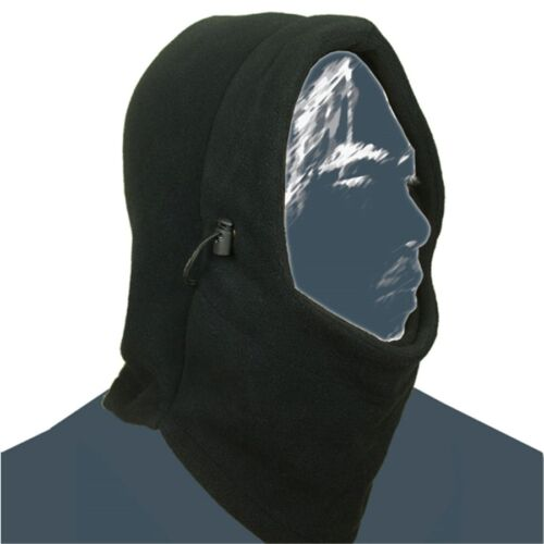 New 2016 Thermal Fleece 6 in 1 Balaclava Hood Police Swat Ski Mask Cool Black MT