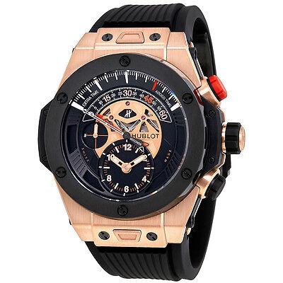 Hublot Big Bang Bi Retrograde King Gold Black Dial Chronograph Mens Watch