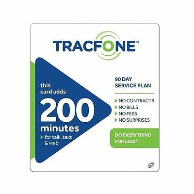 Tracfone  39 99 Refill    200 Minutes   90 Days  Loaded Directly