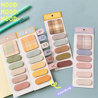 Kawaii Plaid N Times Sticky Notes Memo Pad Planner Sticker Bookmark Index Marker