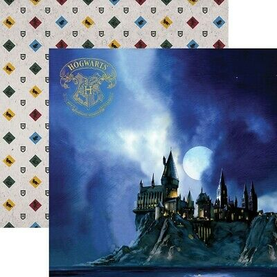 Scrapbooking Crafts 12X12 DS Paper Harry Potter Hogwarts at Night Moon Crests](Scrapbook Paper Crafts)