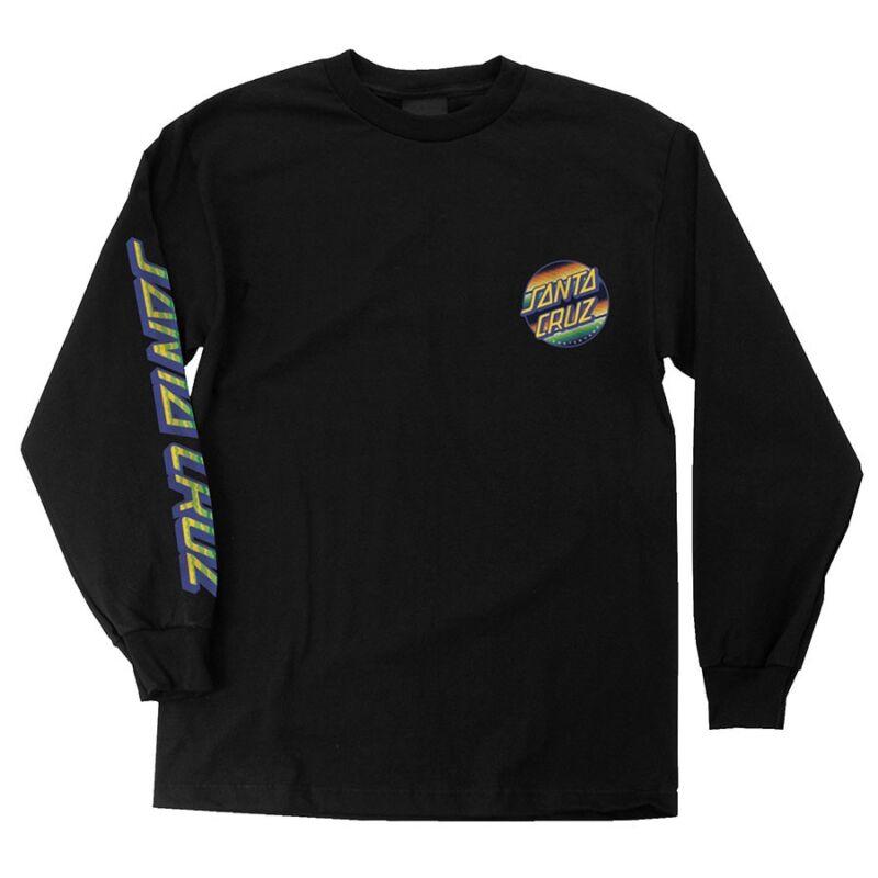 Santa Cruz JORONGO DOT LONG SLEEVE Skateboard T Shirt BLACK XXL