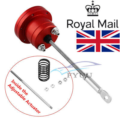 Car Aluminum Alloy Red Turbo Adjustable Wastegate Actuator + Rod Kit