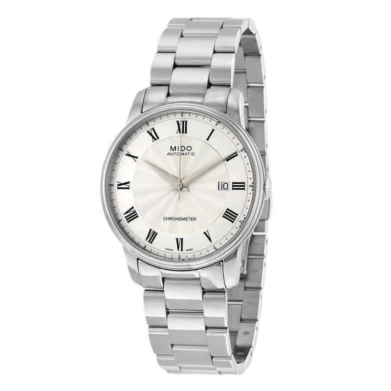 Mido Baroncelli Chronometer Automatic Silver Dial Men Watch M0104081103300