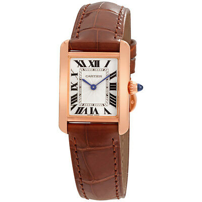 Cartier Tank Louis Silvered Beaded Dial Ladies Hand Wound Watch WGTA0010