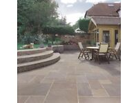 NEW 22MM PREMIUM GRADE RAJ INDIAN SANDSTONE PAVING.