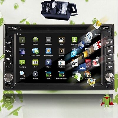 "Android 3G WIFI 6.2"" Double 2 DIN Car Radio Stereo DVD Player GPS Navigation+Cam on Rummage"