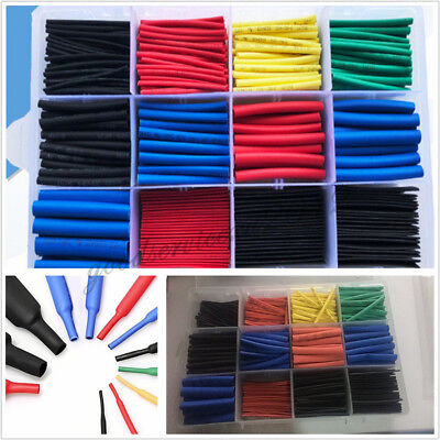 560 Pcs/Boxed Car Insulation Heat Shrink Tubing Electrical Wire Wrap Assortment