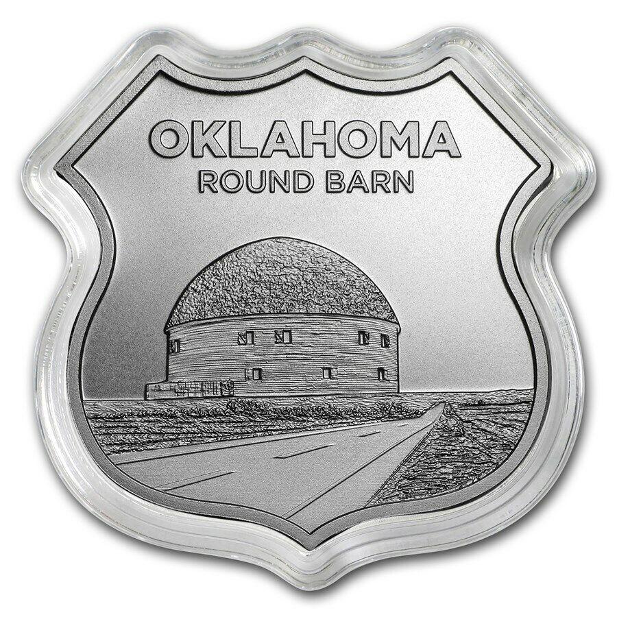 Icons Of Route 66 Series Kansas Rainbow Bridge Silver Capsuled BU Shield
