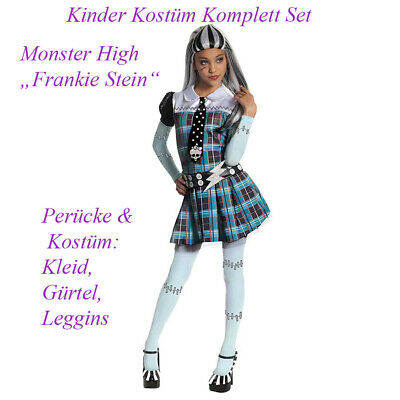 KINDER MONSTER HIGH FRANKIE STEIN KOSTÜM & PERÜCKE # Halloween Karneval - Zombie Kostüm Kinder