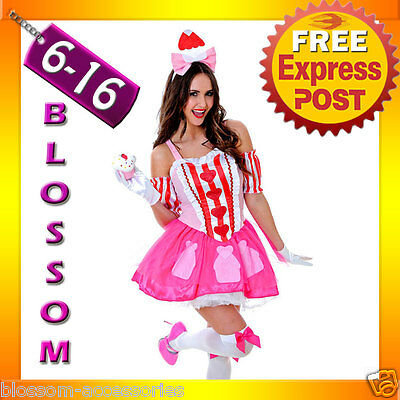 J89 Katy Perry Sweet Cupcake Cup Cake Candy Spice Birthday Fancy Dress Costume ](Katy Perry Cupcake Dress Costume)