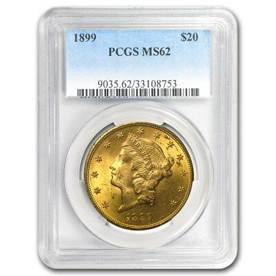 SPECIAL PRICE! $20 Liberty Gold Double Eagle MS-62 PCGS (Pre-1900) - SKU #170382