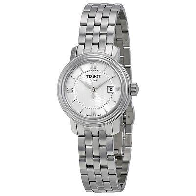 Tissot Bridgeport Quartz Silver Dial Silver Stainless Steel Ladies Watch