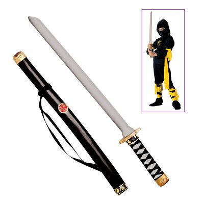 NINJA SCHWERT MIT SCHEIDE Karneval Fasching Samurai Kostüm Waffe Jungen #