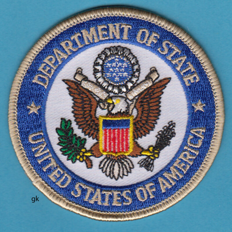 US DEPARTMENT OF STATE SEAL POLICE SHOULDER   PATCH