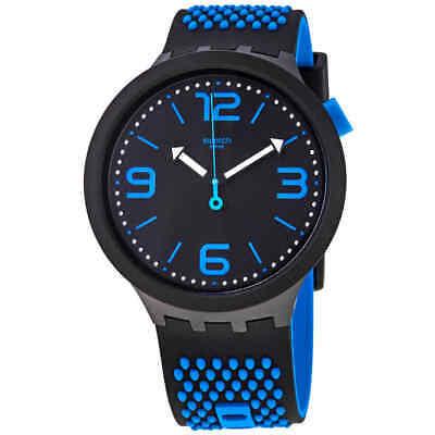 Swatch BBBlue Quartz Black Dial Men's Watch SO27B101