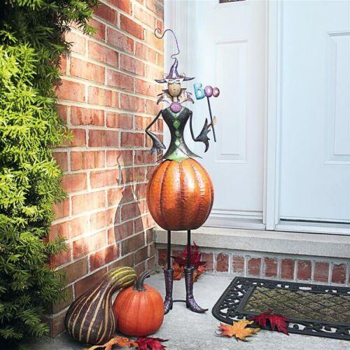 Goth Garden Witch Metal Sculpture Bewitching Autumn Halloween Decor
