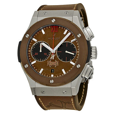 Hublot Classic Fusion Forbidden Chronograph Automatic Tobacco Dial Mens Watch