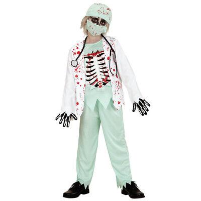 ZOMBIE DOKTOR KOSTÜM & MASKE KINDER Halloween Karneval Monster Arzt Jungen  0576 ()