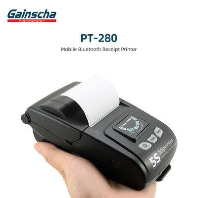 Usb Mini 58mm Bluetooth Wireless Mobile Pos Thermal Receipt Printer - Black