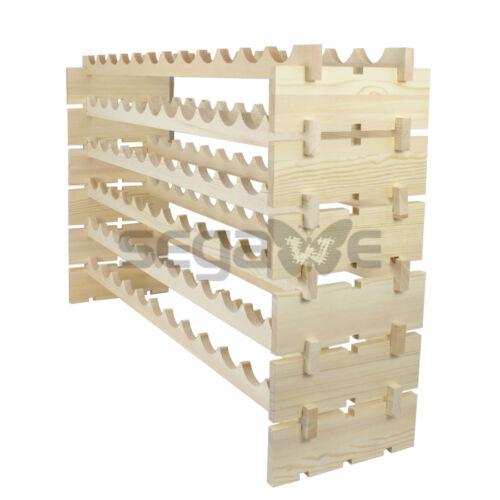 72 Bottles Wine Rack Stackable Storage 6 Tier Solid Wood Display Shelves New Bar Tools & Accessories