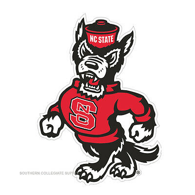 NC STATE Wolfpack Wolf Cornhole Decals / Set of 2  ()