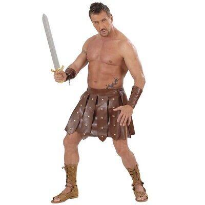 HERREN GLADIATOR KOSTÜM Rock & Stulpen Römer Griechen Spartacus Antikes Rom - Gladiatoren Kostüm